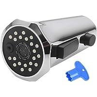 QLOUNI Actualizar Ahorro Agua Aireador Desmontable para Cabezal del Grifos de Cocina Cromado G1/2 con 3 Tipos de Tipos…