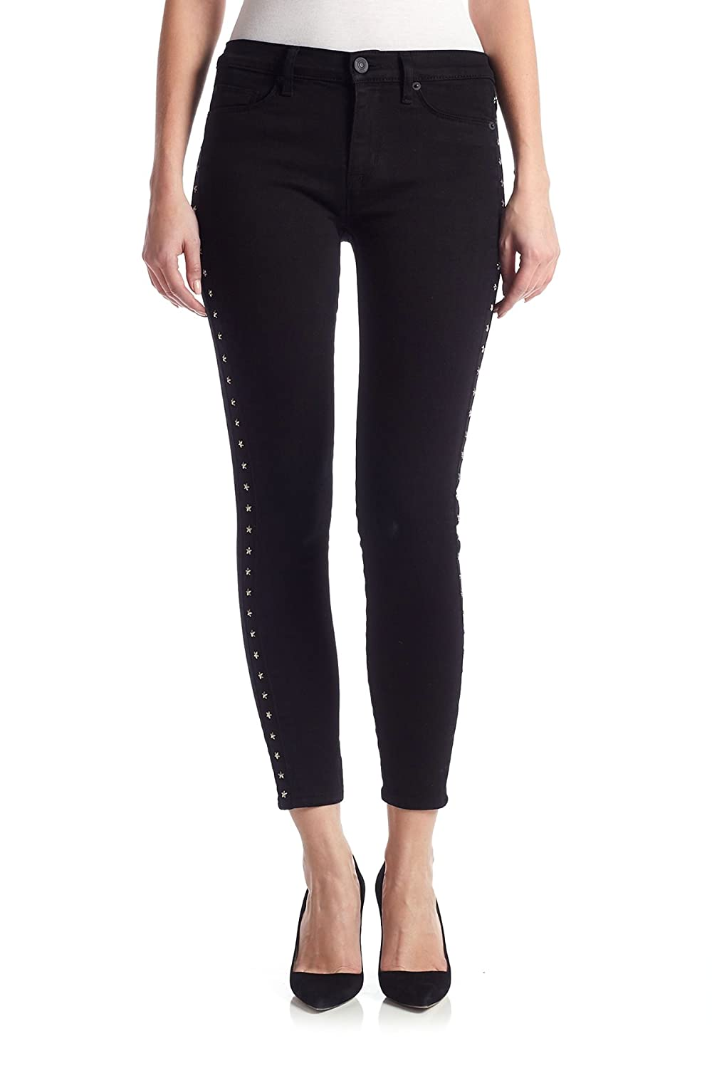 Hudson Women's Luna Super Skinny Ankle Jeans in Noir Star