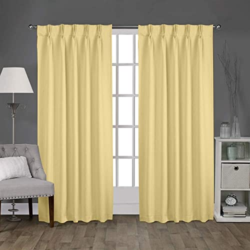 Magic Drapes Home d cor 100 Polyester Double Pinch Pleated Blackout Window Curtain Panels Drapes and Thermal Insulation 2 Panels Beige
