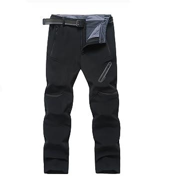 28437f1cf9cce Ynport Crefreak Hommes Hiver Randonnée en Plein Air Pantalon Softshell  Polaire Montagne Ski Pantalons de Neige