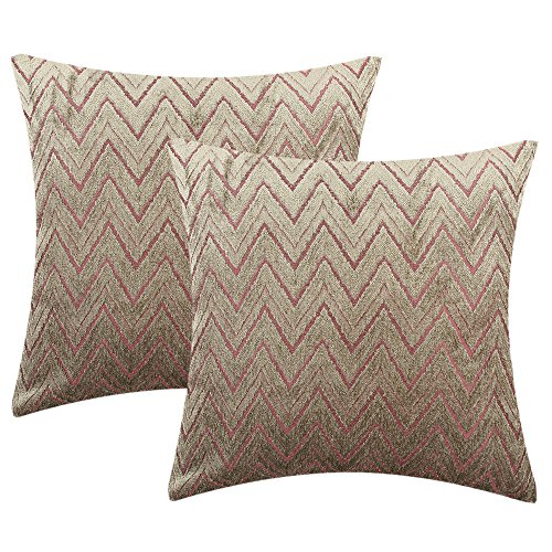 - Yeiotsy Cushion Covers Geometric, Set of 2, Decorative Throw Pillow Covers Zigzag Cozy Cushion Cases for Couch Sofa Living Room (Moss-Color, 18 X 18 Inches)