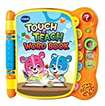 Discover the magic of words with the touch & teach word book by VTech. Cody the smart Cub and Cora the smart Cub teach letters and more than 100 words in four different activities. Twelve interactive pages come to life with the touch of a finger....