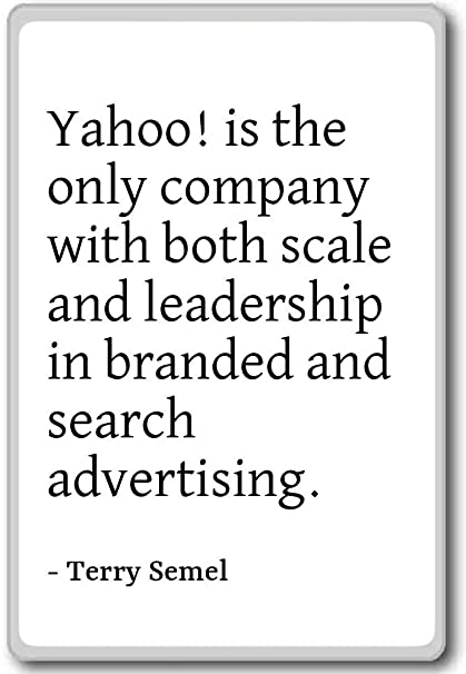 Amazon com: Yahoo! is the only company with both scale and