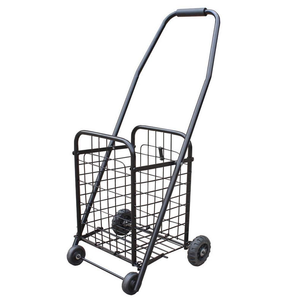 Xilinshop Portable Utility Carts Climbing Stairs Shopping Cart Portable Folding Shopping Cart Home Shopping Cart ( Color : A )