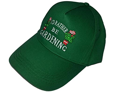 735ebd8a74c Mens Ladies  I d Rather Be Gardening  Adjustable Baseball Cap Hat ...