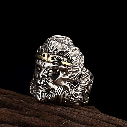 Weiwei Men Ring Rings S925 Sterling Silver Mens Retro Metal Punk Personality Thai Silver Ring Friend Birthday Graduation Gift