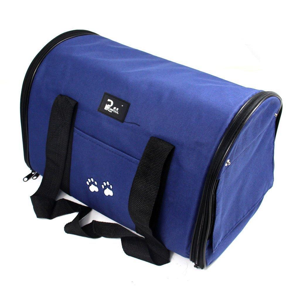 Nestling® léger solide respirant Tissu Oxford Pet Carrier Tote Housse de transport de voyage pour chien chat chiot Cage Tente Kennel Sac caisses (grande) 3couleurs (Bleu)