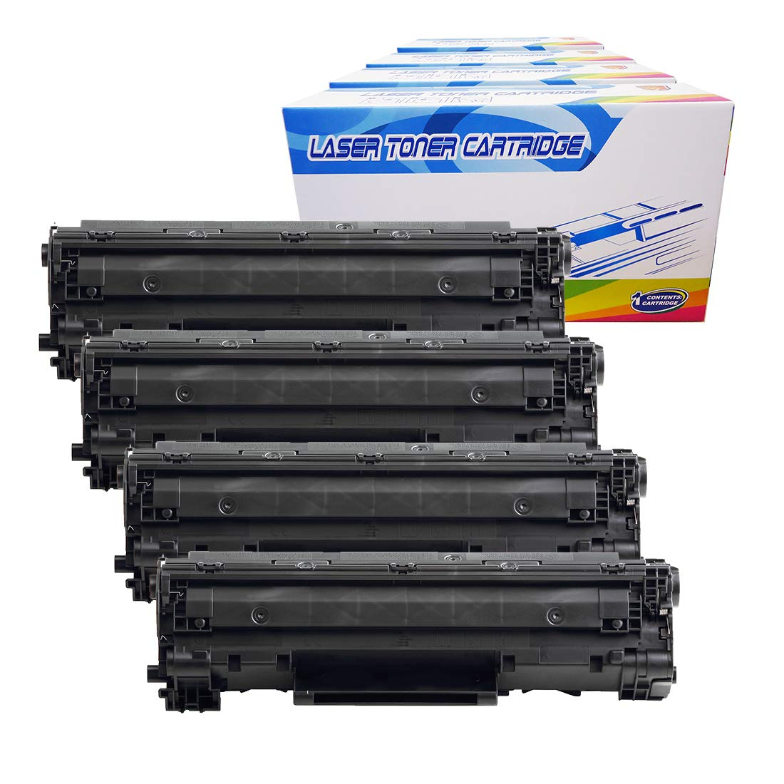 Toner Alternativo ( X4 ) Negro 128 Imageclass D550 Mf4412 Mf4420n Mf4450 Mf4550 Mf4550d Mf4570dn Mf4580dn 3500b001aa