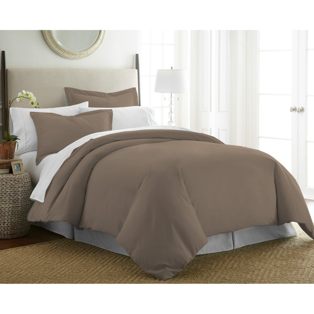 (Twin/Twin X-Large, Taupe) ienjoy Home Ultra Soft Premium Duvet Cover Set, Taupe, Twin/Twin X-Large B06X9412X1