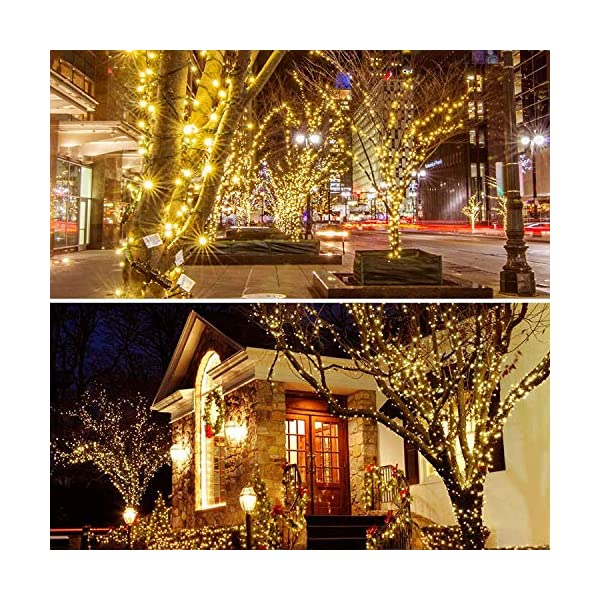 Extendable Green W Upgraded 82FT 200 LED Christmas String Lights Outdoor//Indoor