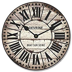 French Tower 2 Wall Clock, Available in 8 Sizes, Most Sizes Ship The Next Business Day, Whisper Quiet.