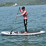 MD Group SUP Board Stand Up Paddle 10-Feet Inflatable EVA & Aluminum Paddle w/ 3 Fins