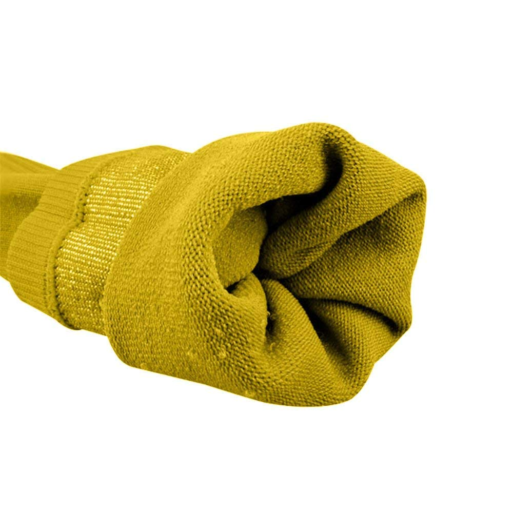 SUPOW Over Knee Solid Cotton Socks Soccer Football Sport Extended Stockings Socks Athlete Ribbed Thigh High Tube Hose Long Thicken Bottom Socks Yellow