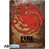 ABYstyle - ABYPLA007 - Plaque métal - Game Of Thrones - Targaryen