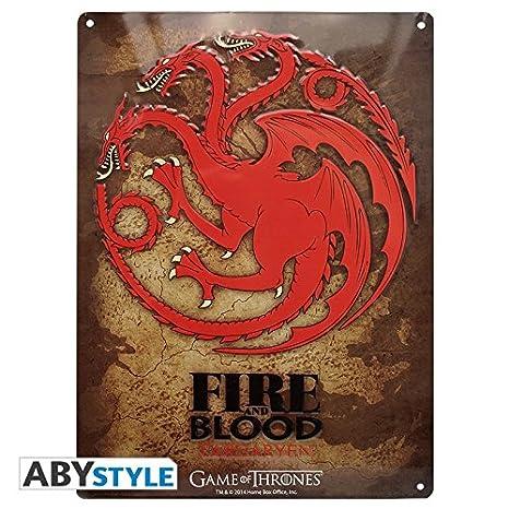 ABYstyle Placa metálica Game of Thrones Targaryen: Amazon.es ...