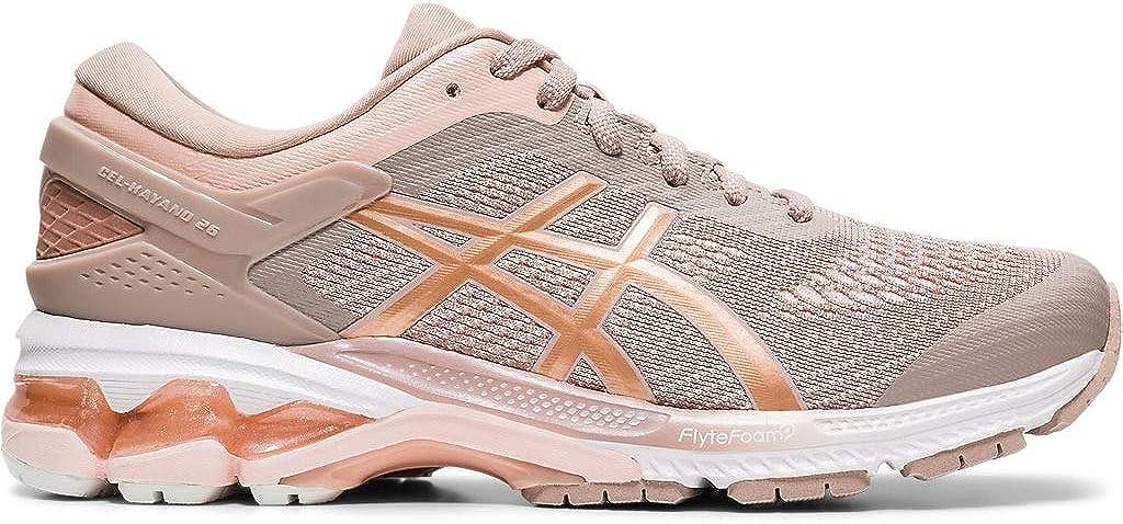 ASICS Gel-Kayano 26 Zapatillas de correr para mujer, Rosa (Beige y oro rosa.), 37 EU: Amazon.es: Zapatos y complementos