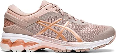 ASICS Womens Gel-Kayano 26 Running Shoes, 8.5M, Fawn/Rose Gold: Amazon.es: Zapatos y complementos