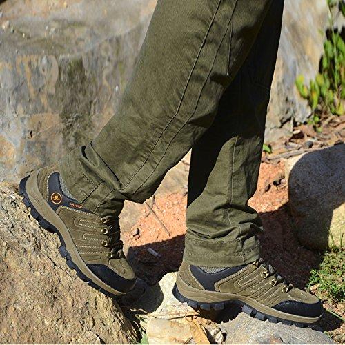 Shoes Camel Outdoor Hiking Huayu 3C Mens 1252 Lightweigh Walking Waterproof Trail Brown Suede PSqwdzFw