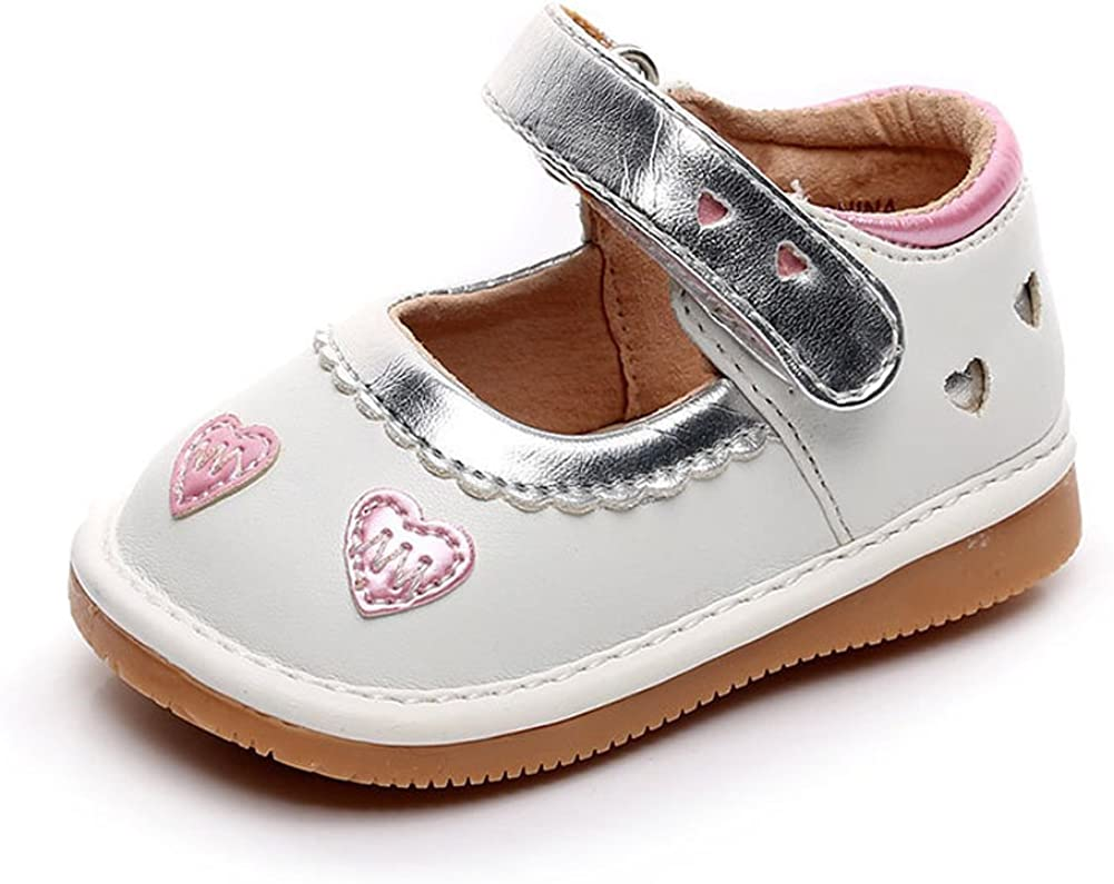 Wee Squeak Girls Bow Toddler Squeaky Shoes with Removable Squeaker