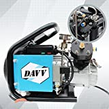 DAVV SCU60 High Pressure Air Compressor for Paintball PCP Airgun Rifle Scuba Tank Filling, Dual Piston Pump, Auto Stop, 110v, Up to 4500 psi, US After-Sales Service