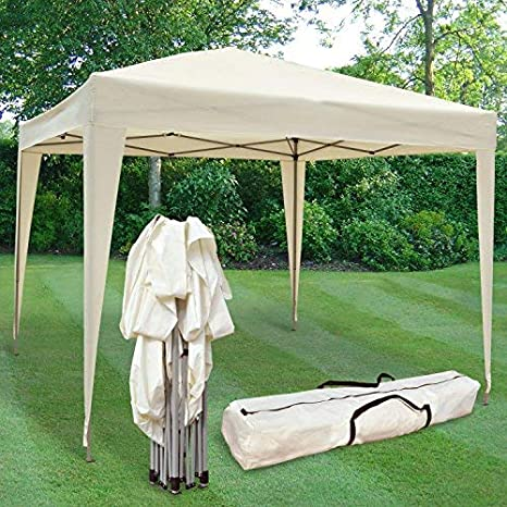 Cenador Impermeable, Plegable de 3 x 3 MTS Airwave en Color Crema ...