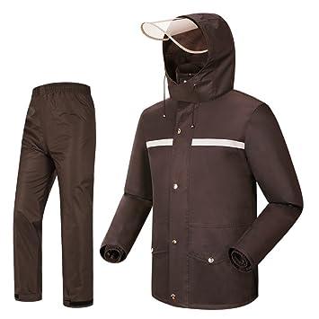 Regenanzug Regenbekleidung Regenhose und Regenjacke mit Kapuze Größe XL