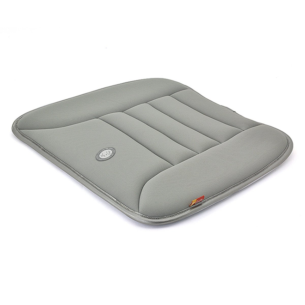 Travel Memory Foam Seat Cushion – One Step Install Seat Pad, Luxury Back Pillow for Car Home Office Airplane Wheel Chair – Gray
