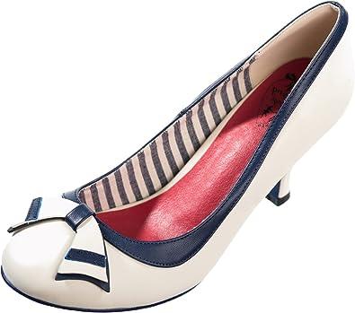 Dancing Days Damen Schuhe Sparkle Falls Nautical Pumps Geschlossen (36,  Cremefarben Navyblau) d5d68a51ea
