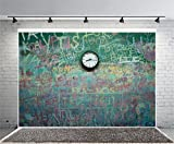 Leyiyi 6x4ft Photography Backgroud Back to School Backdrop Vintage Wooden Floor Clock Shool Season American Style Grunge Graffiti Blackboard Classroom Interior Photo Portrait Vinyl Studio Video Prop