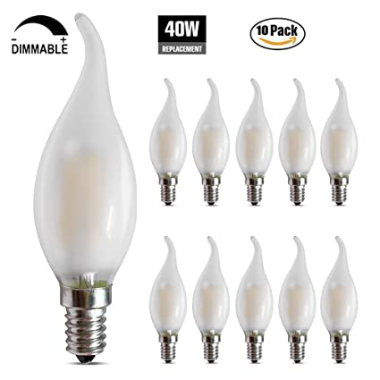 Frosted dimmable led candelabra bulbs 4w 2700k e12 base led frosted dimmable led candelabra bulbs 4w 2700k e12 base led filament chandelier light bulbs 40w aloadofball Gallery