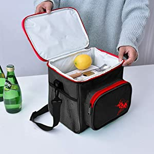 AJ Lunch bag – Portable and convenient Lunch Bag to Keep your Food Warm/Cold. Ideal for both outdoor and indoor activities. (Black)