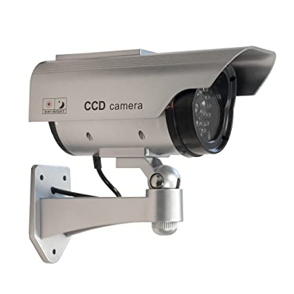 Densidad de agua DUMMY CÁMARA con Solar – CCD Camera Fake Cámara de seguridad con LED