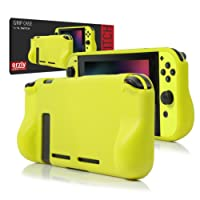 ORZLY® Comfort Grip Case for Nintendo Switch - Protective Back Cover for use on the Nintendo Switch Console in Handheld GamePad Mode with built in Comfort Padded Hand Grips - NEON YELLOW