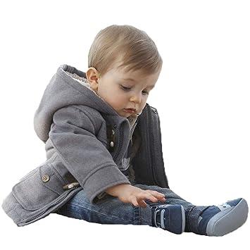 40144e34816b4 ローローLuoLuo ベビーコート ダッフルコート 男の子 子供服 フリース アウター キッズ 2way フード付き 防寒