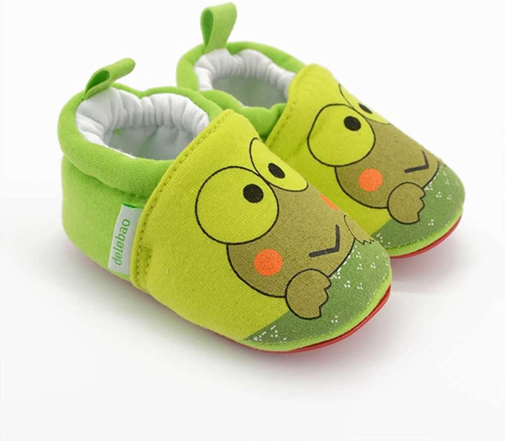 Delebao Baby Infant Toddler Cartoon Rubber Sole Crib Shoes Slippers Prewalker 3-24 Months