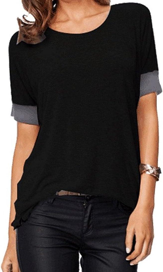 Women/'s Short Sleeve Loose Fit Heart T-Shirt S-XXXL
