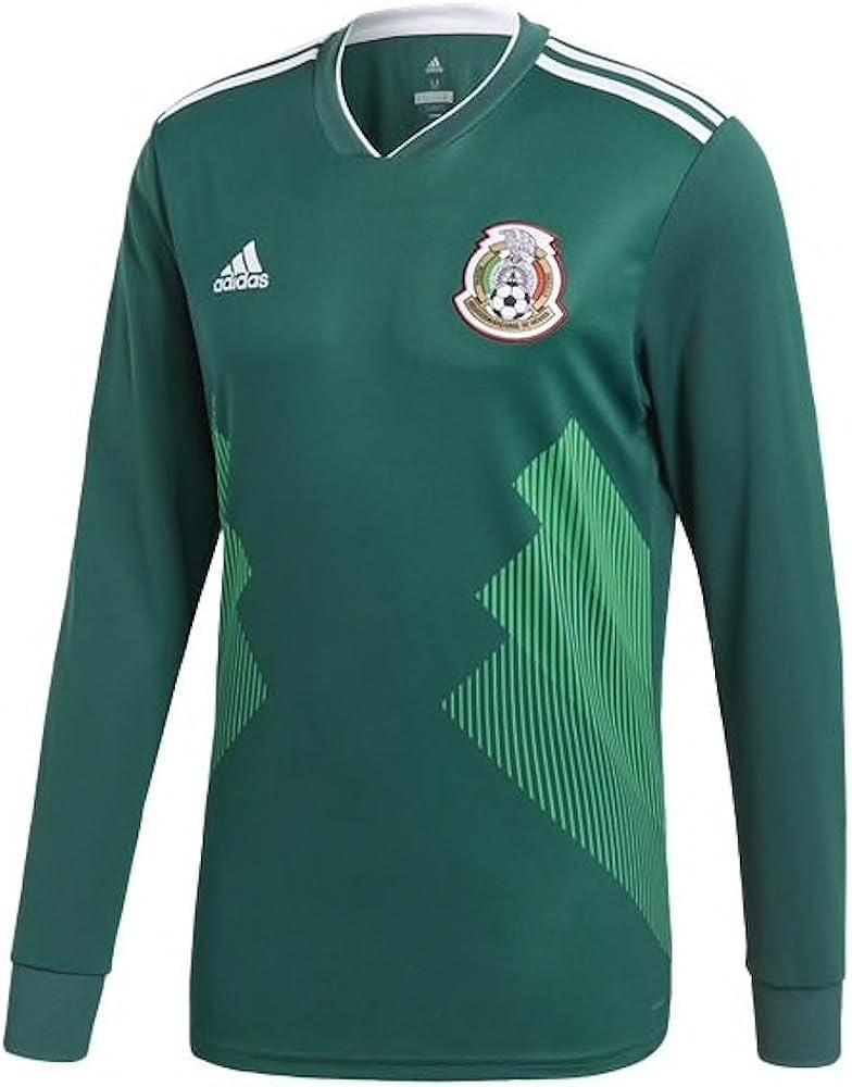 adidas México Camiseta de Manga Larga Jersey de fútbol del Mundial ...