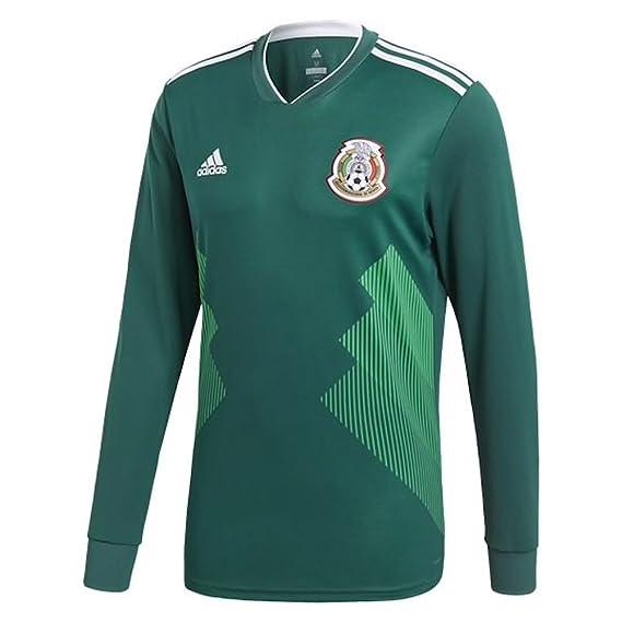 adidas – Camiseta de México Home de manga larga Jersey de fútbol Copa del  Mundo 2018 b34222a5810c9