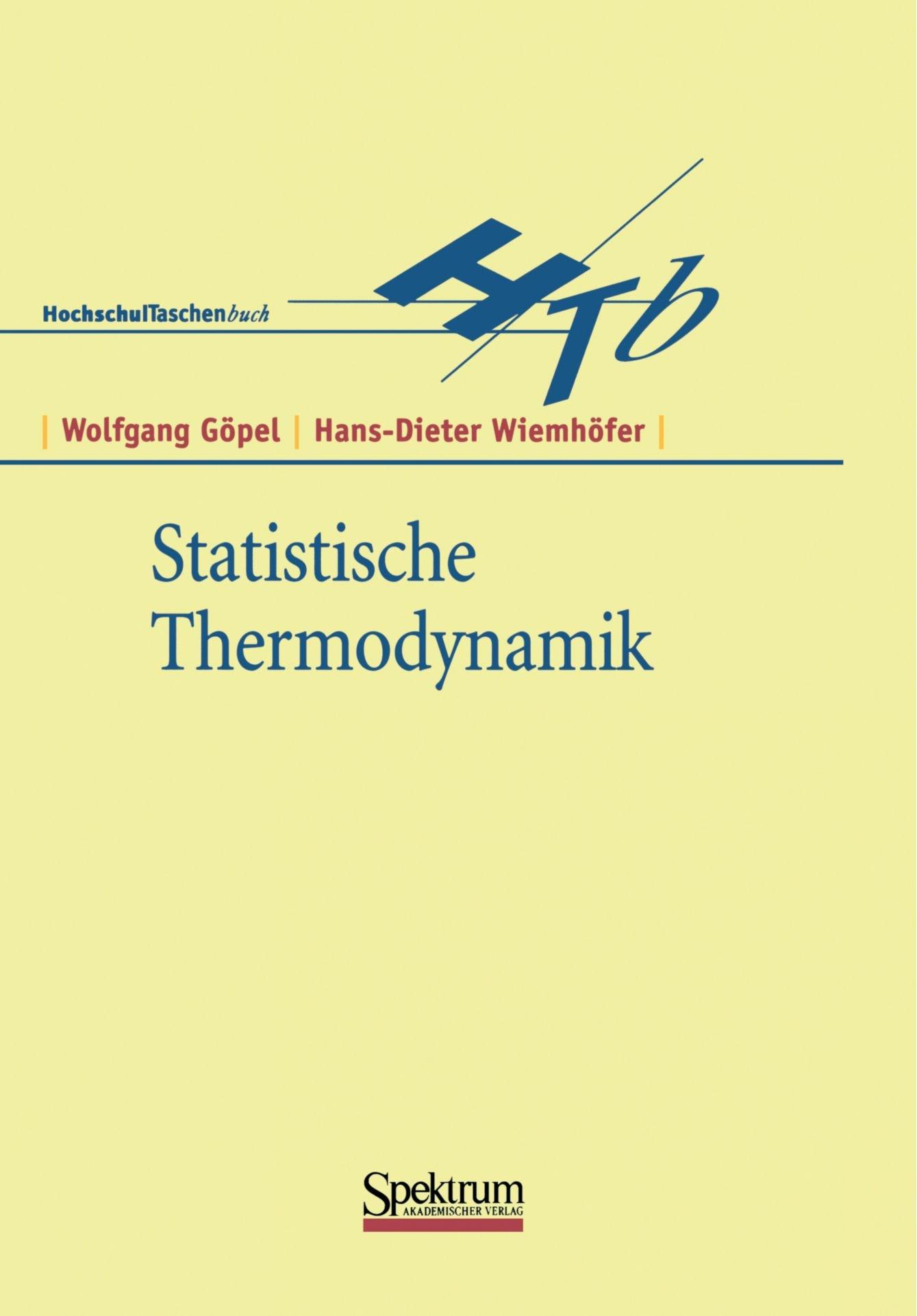 Statistische Thermodynamik (German Edition)