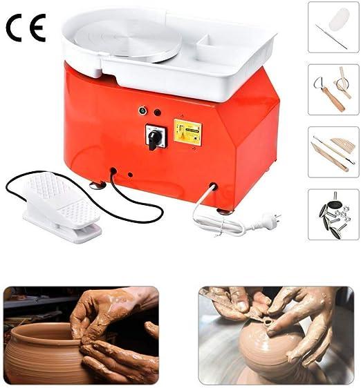 HUKOER 25 cm M/áquina de Ruedas de Cer/ámica Herramienta de Arcilla Arte Craft DIY para Trabajos de Cer/ámica con Kit de Herramientas