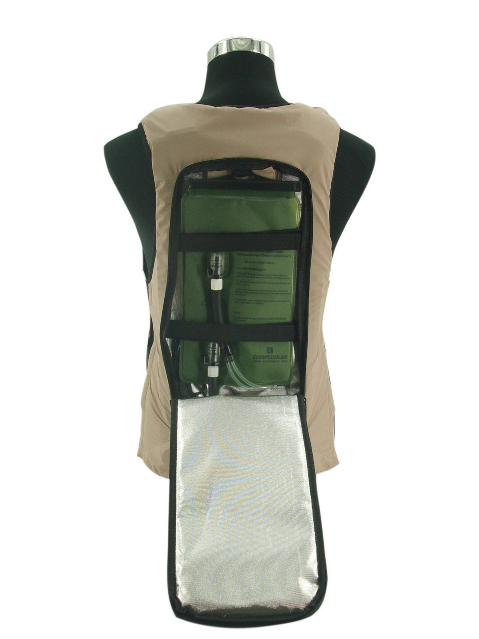 Ice Water Circulating Cooling Vest Tan Detachable Bladder M-L by Compcooler (Image #3)