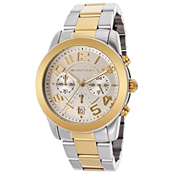 Michael Kors Oversize Two-Tone Stainless Steel Mercer Chronograph Womens watch #MK5748