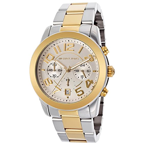 Amazon.com: Michael Kors Oversize Two-Tone Stainless Steel Mercer Chronograph Womens watch #MK5748: Michael Kors: Watches