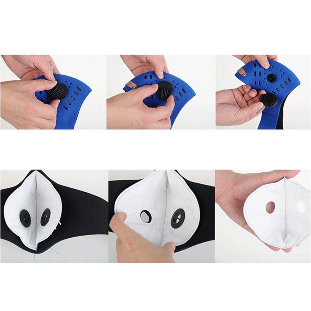 masque anti poussiere panda