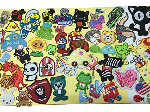 Randomly 20PCS Lovely Cartoon Animal Embroidery Iron on Patches for kids great for T-shirt,Hat,Jean,Jacket,Backpacks