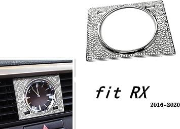 Silver, ES 2013-2018 NIUHURU Car Interior Trim Bling Accessories Time Decoration Ring Rhinestone Decals Cover fit for Lexus NX ES 2013-2018