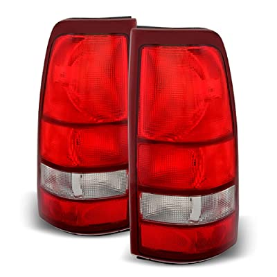 ACANII - For 1999-2002 Chevy Silverado 1500 99-06 GMC Sierra Red Tail Lights Lamps Left+Right: Automotive