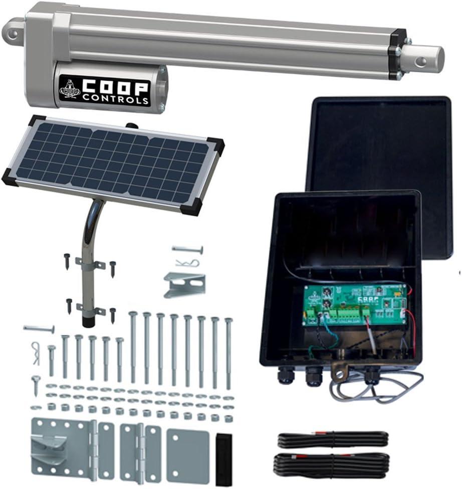 Coop Controls Automatic Coop Door Opener Kit (CKSPXP-Solar Kit, No Battery)