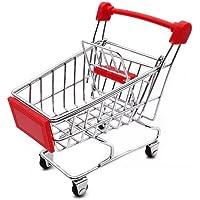 LW Mini Shopping Cart Supermarket Handcart Mini Shopping Cart Mini Supermarket Storage Toy (Red)