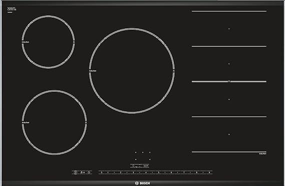 Bosch PIP875N17E VITROCERAMICA FLEX INDUCCION PREMIUM, 22 W, Vidrio y cerámica, Negro